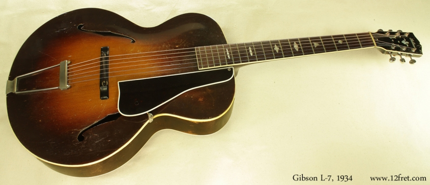 Gibson L-7 Archtop, 1934 full front view
