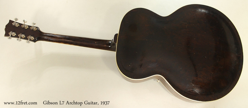 Gibson L7 Archtop Guitar, 1937 Full Rear View