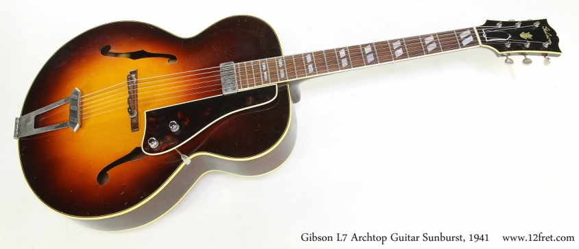 Gibson L7 Archtop Guitar Sunburst, 1941   Full Front View