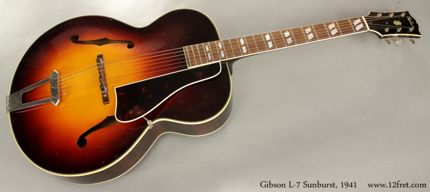 Gibson L7 Archtop Sunburst 1941 full front view