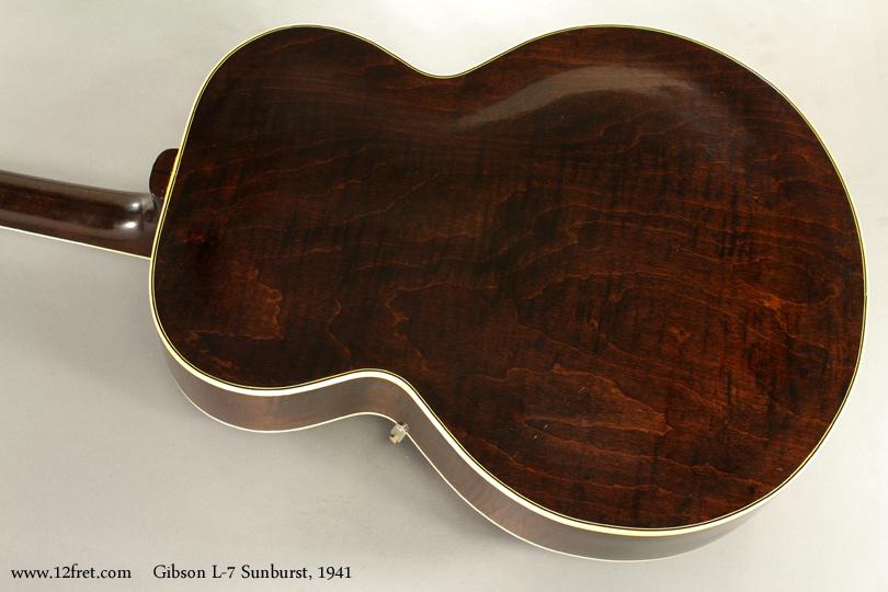Gibson L7 Archtop Sunburst 1941 back