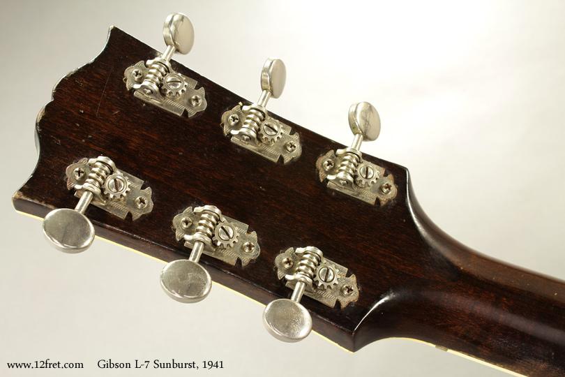Gibson L7 Archtop Sunburst 1941 head rear