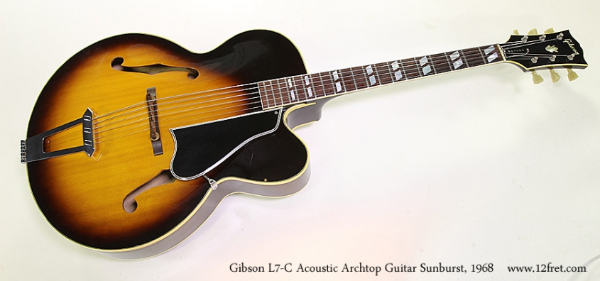 Gibson L7-C Acoustic Archtop Guitar Sunburst, 1968 Full Front View