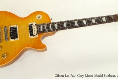 Gibson Les Paul Gary Moore Model Sunbust, 2000  Full Front View