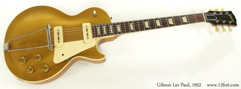 Gibson Les Paul Gold Top 1952 full front view