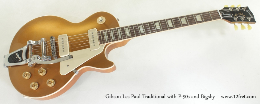 Gibson Les Paul Traditional with P-90s and Bigsby full front view