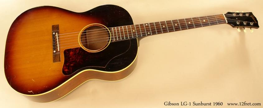 Gibson LG-1 Sunburst 1960 full front view