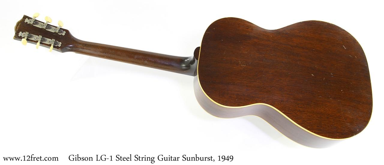 Gibson LG-1 Steel String Guitar Sunburst, 1949 Full Rear View