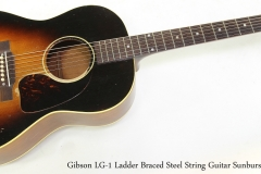 Gibson LG-1 Ladder Braced Steel String Guitar Sunburst, 1953   Full Front View
