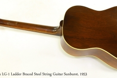 Gibson LG-1 Ladder Braced Steel String Guitar Sunburst, 1953   Full Rear View