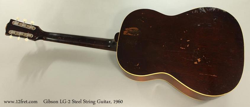 Gibson LG-2 Steel String Guitar, 1960 Full Rear View