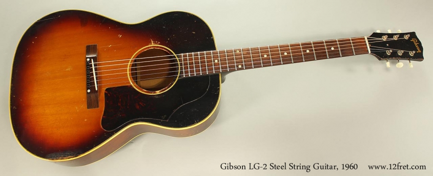 Gibson LG-2 Steel String Guitar, 1960 Full Front View