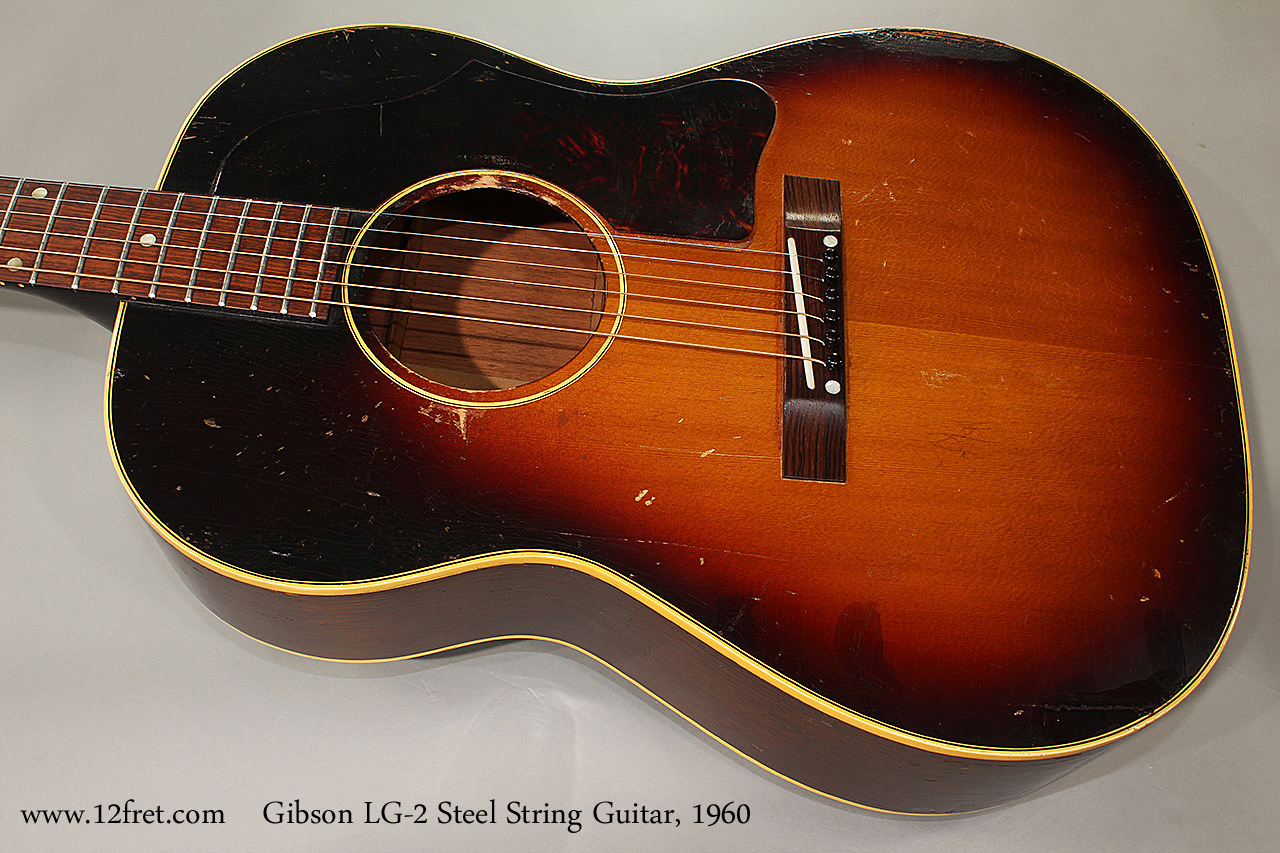 Gibson LG-2 Steel String Guitar, 1960 Top View