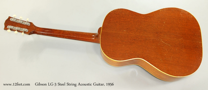 Gibson LG-3 Steel String Acoustic Guitar, 1956 Full Rear View