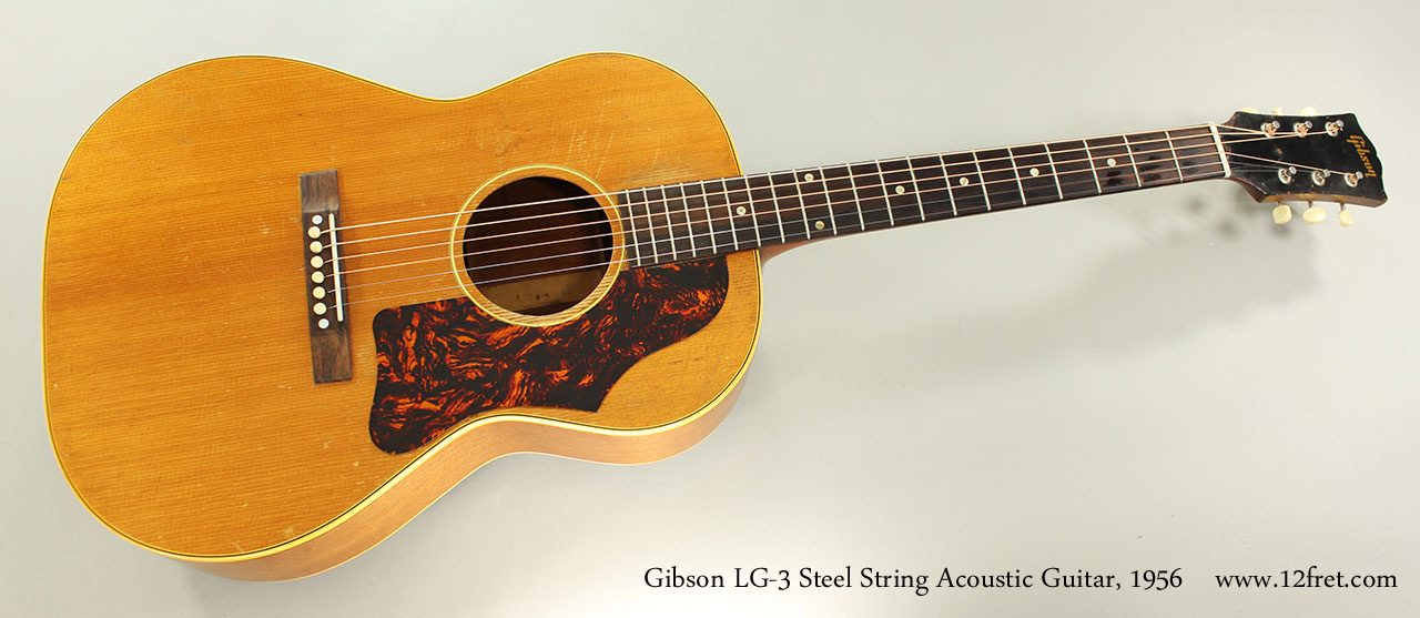 1956 gibson lg 3 steel string acoustic guitar. Black Bedroom Furniture Sets. Home Design Ideas