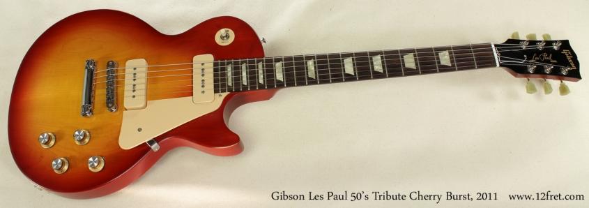 Gibson Les Paul 50s Tribute Cherry Burst 2011 full front view