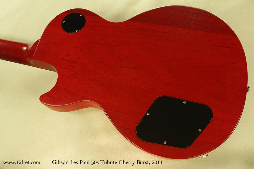 Gibson Les Paul 50s Tribute Cherry Burst 2011 back