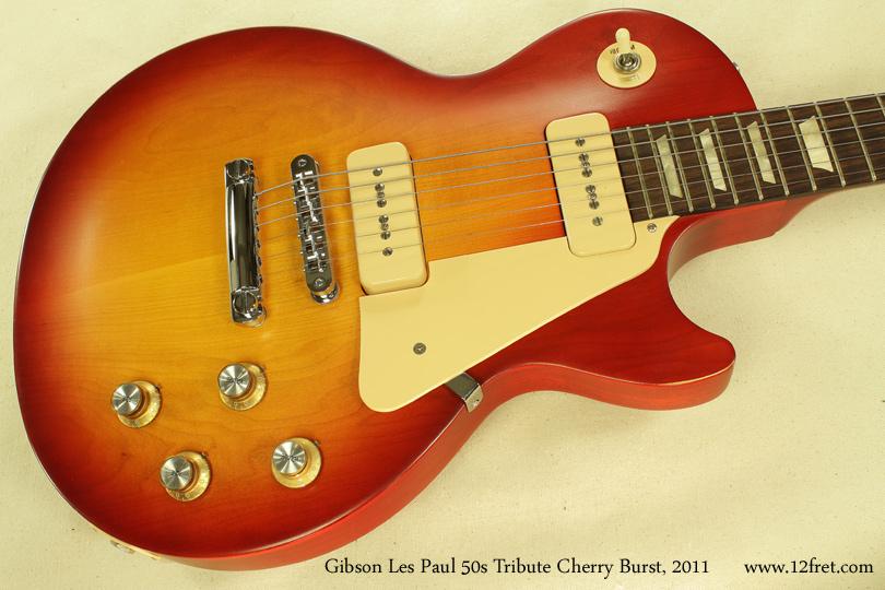 Gibson Les Paul 50s Tribute Cherry Burst 2011  top