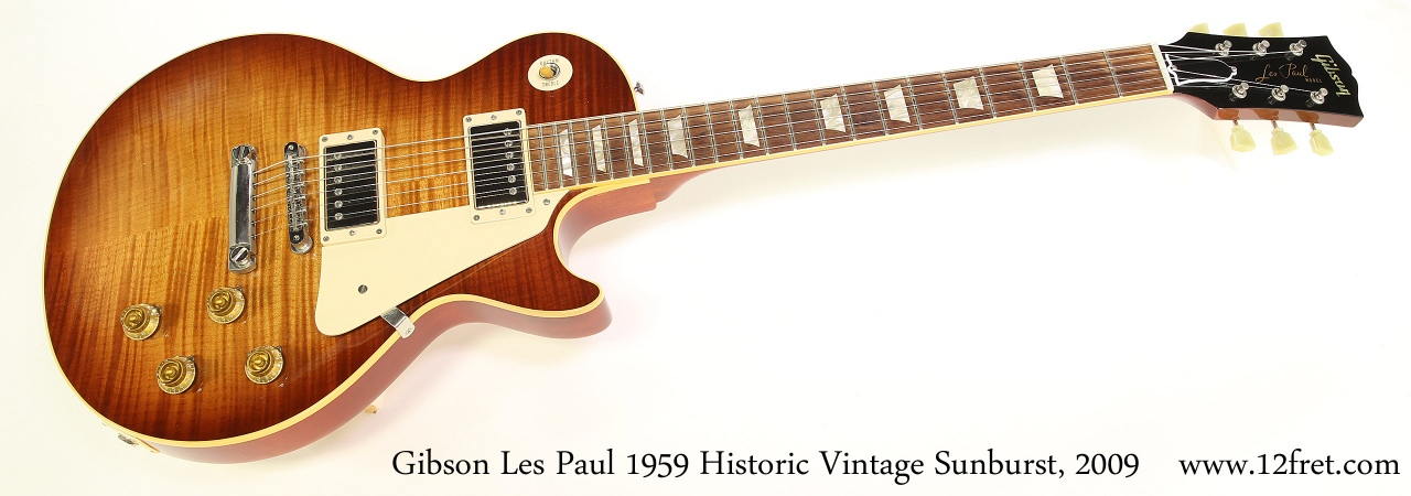 Gibson Les Paul 1959 Historic Vintage Sunburst, 2009 Full Front View