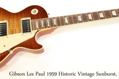 Gibson Les Paul 1959 Historic Vintage Sunburst, 2009 Full Front View