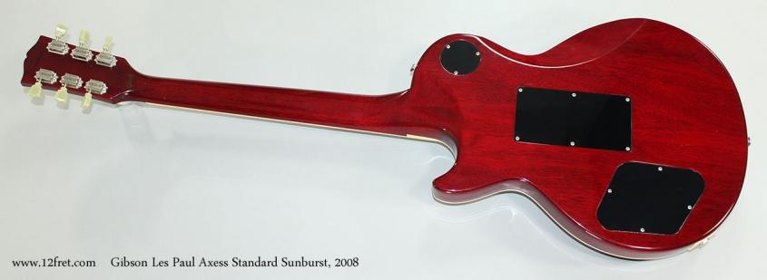 Gibson Les Paul Axess Standard Sunburst, 2008 Full Rear View