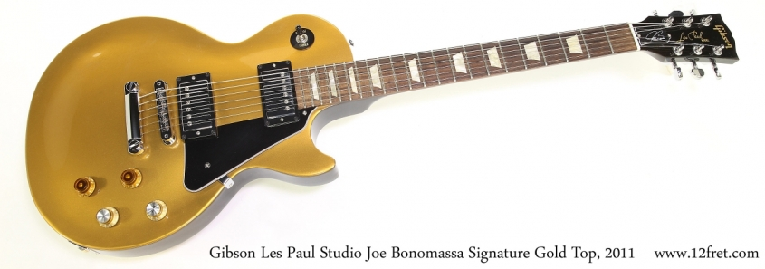 Gibson Les Paul Studio Joe Bonomassa Signature Gold Top, 2011   Full Front View