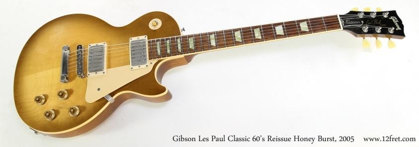 Gibson Les Paul Classic 60's Reissue Honey Burst, 2005   Full Front View