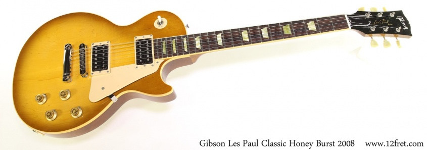 Gibson Les Paul Classic Honey Burst 2008 Full Front View