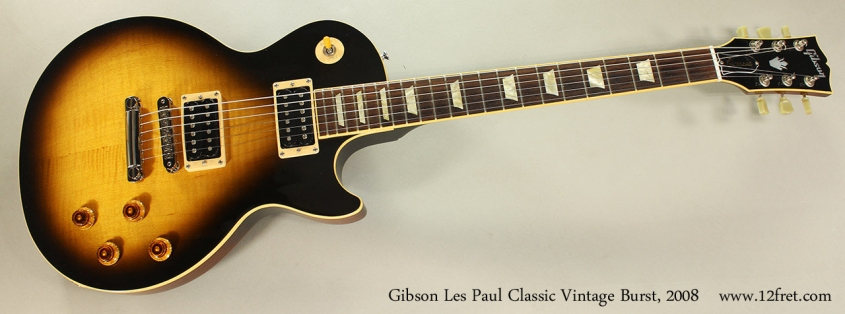 Gibson Les Paul Classic Vintage Burst, 2008 Full Front View