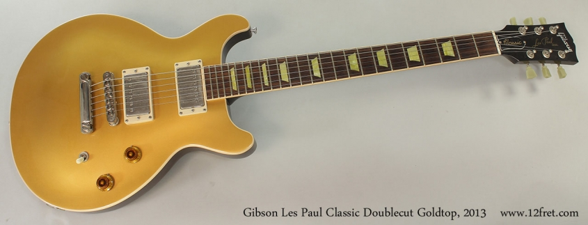 Gibson Les Paul Classic Doublecut Goldtop, 2013 Full Front View