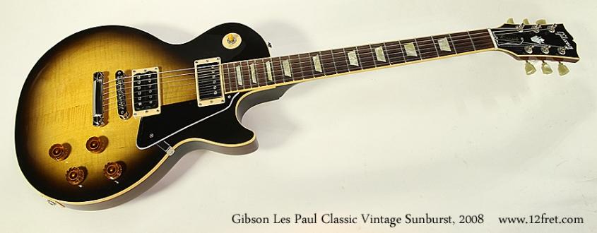 Gibson Les Paul Classic Vintage Sunburst, 2008 Full Front View