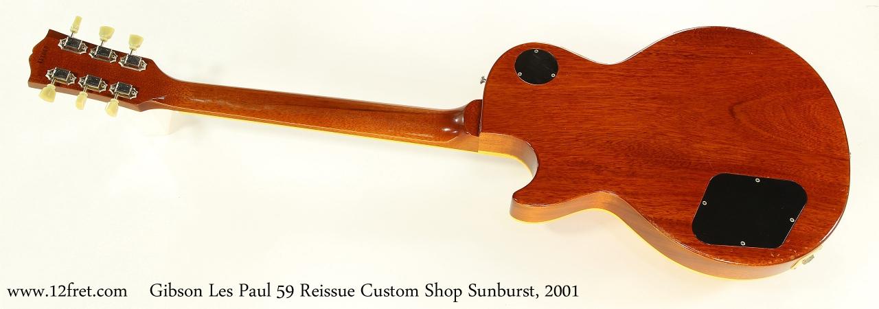 Gibson Les Paul 59 Reissue Custom Shop Sunburst, 2001 Full Rear View