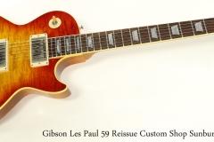 Gibson Les Paul 59 Reissue Custom Shop Sunburst, 2001 Full Front View