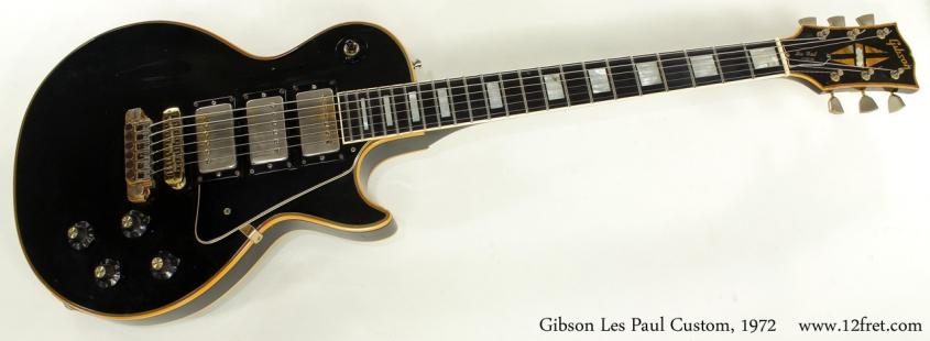 Gibson Les Paul Custom 1972 full front view
