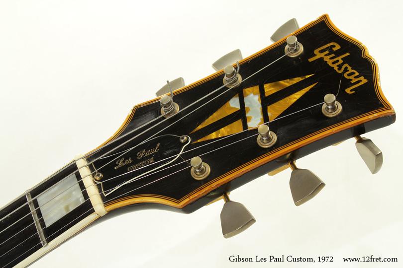 Gibson Les Paul Custom 1972 head front
