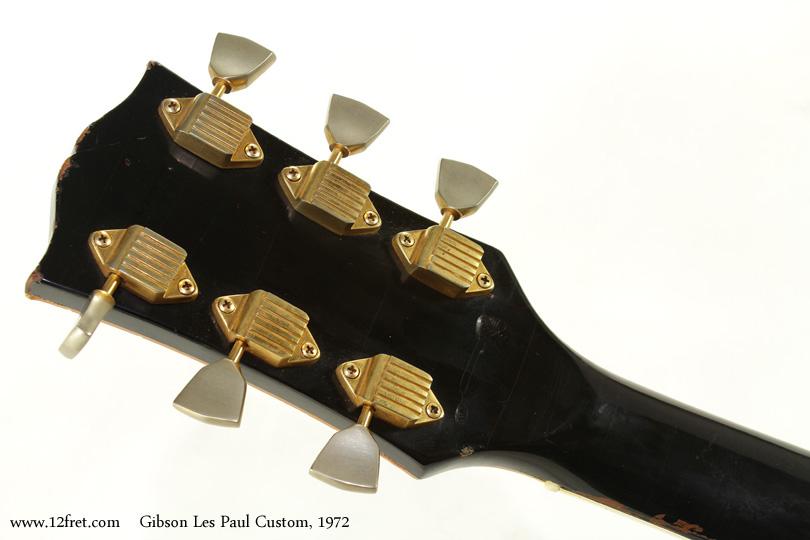 Gibson Les Paul Custom 1972 head rear