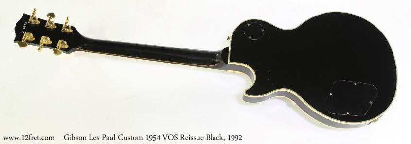 Gibson Les Paul Custom 1954 VOS Reissue Black, 1992   Full Rear View