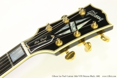 Gibson Les Paul Custom 1954 VOS Reissue Black, 1992   Head Front View