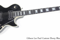 Gibson Les Paul Custom Ebony Black, 1988 Full Front View