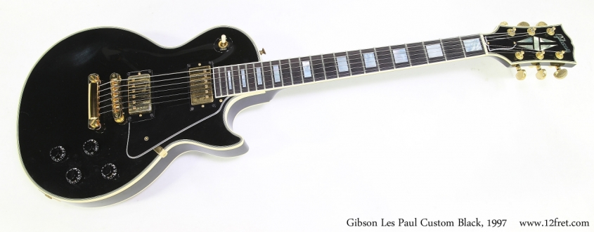 Gibson Les Paul Custom Black, 1997 Full Front View