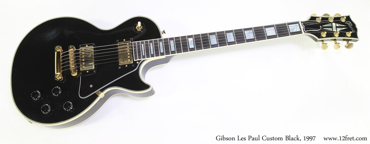 Gibson Les Paul Custom Black, 1997 Full Front View