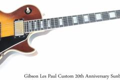Gibson Les Paul Custom 20th Anniversary Sunburst, 1974 Full Front View