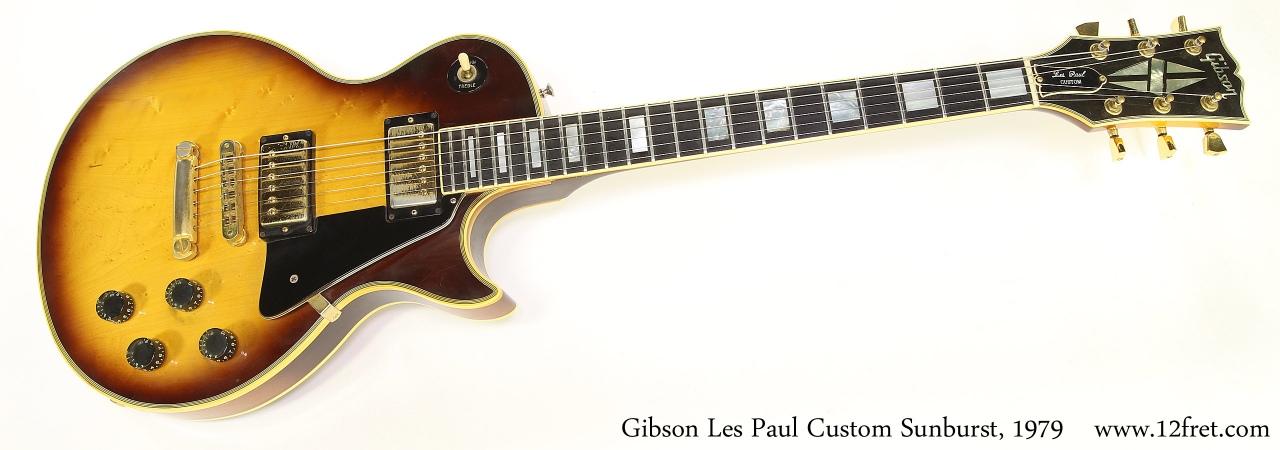 Gibson Les Paul Custom Sunburst, 1979 Full Front View