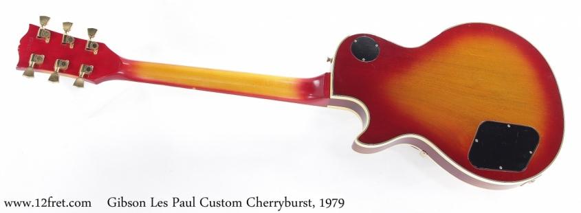 Gibson Les Paul Custom Cherryburst, 1979 Full Rear View