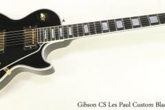 Gibson CS Les Paul Custom Black, 2014 Full Front View