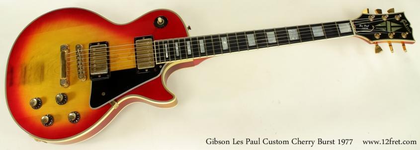 Gibson Les Paul Custom Cherry Burst 1977 full front view