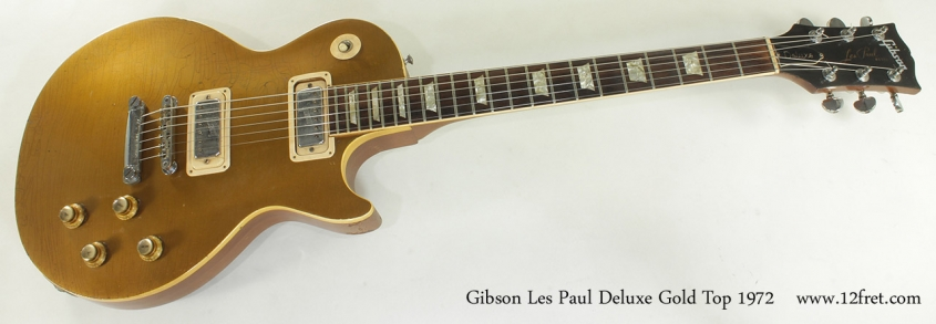 Gibson Les Paul Deluxe Gold Top 1972 full front view