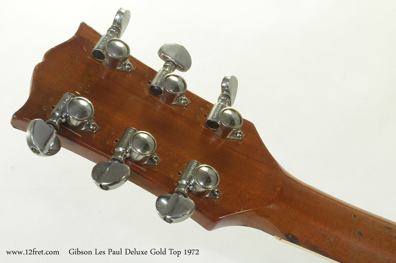 Gibson Les Paul Deluxe Gold Top 1972 head rear