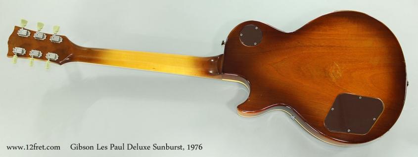 Gibson Les Paul Deluxe Sunburst, 1976 Full Rear View