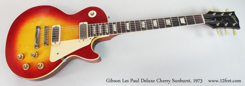 Gibson Les Paul Deluxe Cherry Sunburst, 1973 Full Front View